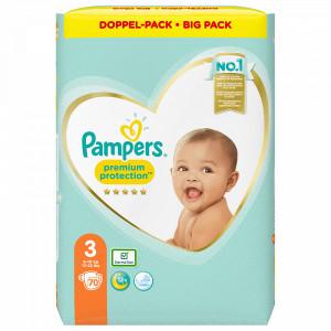 Scutece Pampers Premium, marimea 3, 6-10 Kg, 70 bucati, PM84032203