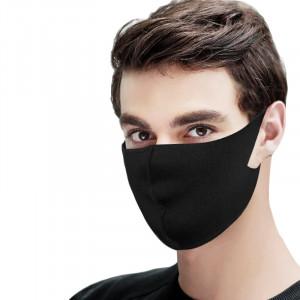 Set 4 buc Masca protectie pentru fata Fashion, culoare neagra