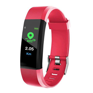 Smart Wristband 115 Plus Fitness Tracker - Rosu