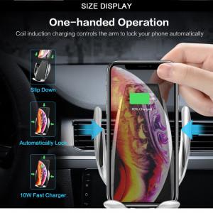 Suport Auto Reglabil Automat Și Încărcare Wireless - Argintiu