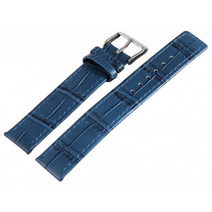 Curea din Piele, Culoare Bluemarin, 18 mm, PM8000412-1803