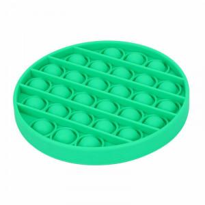 Jucarie Senzoriala Interactiva, Pop It, Bubble, Rotund, Verde, POP-IT GREEN