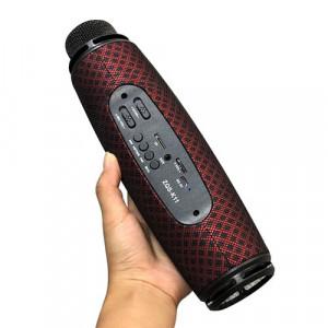 Microfon Karaoke fara fir , ZQS-K11 , boxa inclusa , slot card TF , AUX , Rosu