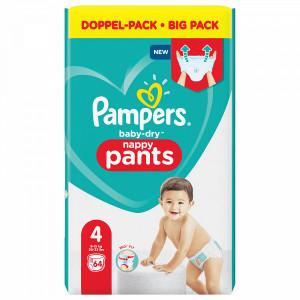 Scutece-chilotel Pampers Baby-Dry, Nappy-Pants, marimea 4, 9-15 Kg, 64 bucati, PM83798063