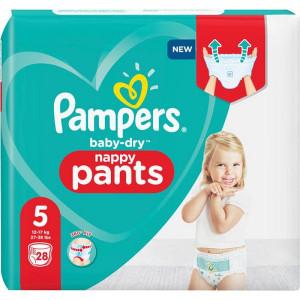 Scutece-chilotel Pampers Baby-Dry, Nappy Pants, marimea 5, 12-17 Kg, 28 bucati, PM2266532-43