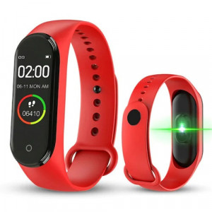 Smartband Fitness Tracker M4, Rosu, M4-RED