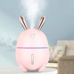 Umidificator silentios, difuzor aromaterapie , model Pink Bunny 200 ml