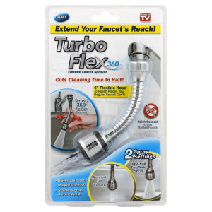 Adaptor flexibil 360 pentru chiuveta, 2 setari de curgere, Universal