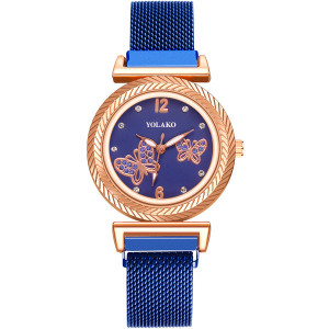 Ceas de Dama, cu inchidere magnetica, Butterfly, Q9603-V8