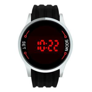 Ceas de mana unisex cu touch screen led L040-NEGRU