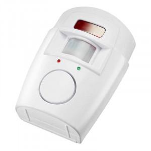 Detector de Miscare Wireless cu Infrarosu, Alarma 105dB si 2 Telecomenzi, Raza Detectie 110 Grade