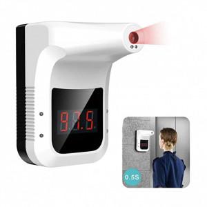 Scanner temperatura, termometru profesional medical IR , acumulator inclus , 50 oameni pe minut , fara contact , montaj perete sau trepied, acumulator si incarcator priza , pentru institutii , firme , scoli , sedii