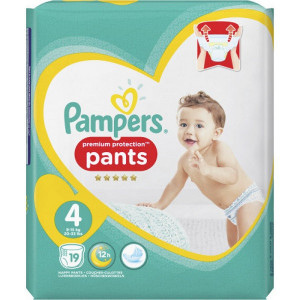 Scutece-chilotel Pampers Premium Pants, marimea 4, 9-15 Kg, 19 bucati, PM2213835-43