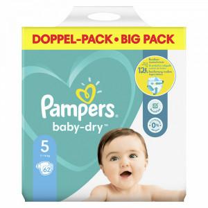 Scutece Pampers Baby-Dry, marimea 5, 11-16 Kg, 62 bucati, PM83794843
