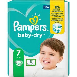 Scutece Pampers Baby-Dry, marimea 7, 15+ Kg, 24 bucati, PM2264806-83