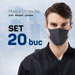 Set 20 buc Masca protectie pentru fata Fashion, negru