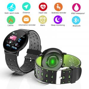 Smartwatch 119 Plus, iOS /Android, Bluetooth, Fitness Tracker, Negru/Rosu