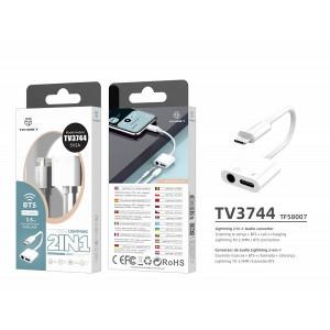 Cablu audio Lightning 3,5 mm, alb, PMTF580073