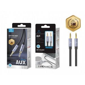 Cablu audio Pvc 1M 3,5Mm, albastru, PMTF270073