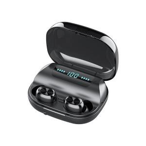 Casti fara fir, in-ear, stereo, Bluetooth 5.0, negru, TWS-10