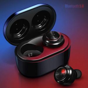 Căști Wireless A6 Bluetooth 5.0 stereo,muzica 4D impermeabile, sunet Hi-Fi, negru, CASTI-A6