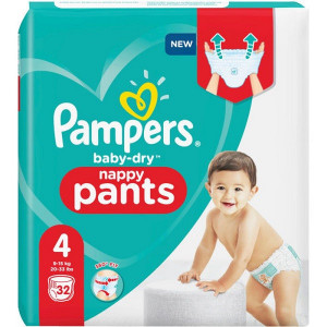 Scutece-chilotel Pampers Baby-Dry, Nappy-Pants, marimea 4, 9-15 Kg, 32 bucati, PM2266489-13