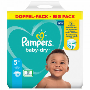 Scutece Pampers Baby-Dry, marimea 5+, 12-17 Kg, 58 bucati, PM83790853