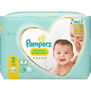 Scutece Pampers Premium, marimea 2, 4-8 Kg, 32 bucati, PM2264828-03
