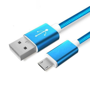 Android Micro USB - cablu date incarcator 1.5m Albastru