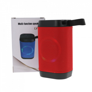 Boxa Portabila Bluetooth, Lanterna, TF, USB, LED LV10-RED