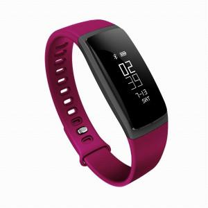 Bratara fitness V07+ Pro , BT 4.0, rezistenta la apa ip67, monitorizare puls dinamic, Android, iOS, intrare apeluri, sms, vibratii, Mov