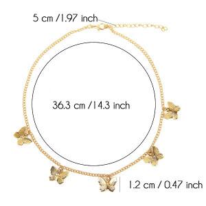 Lantisor Dama cu fluturasi - auriu COL140