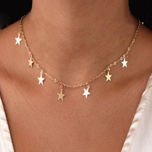 Lantisor Dama cu stelute - auriu COL146