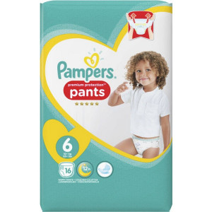 Scutece-chilotel Pampers Premium Pants, marimea 6, 15+ Kg, 16 bucati, PM71679393