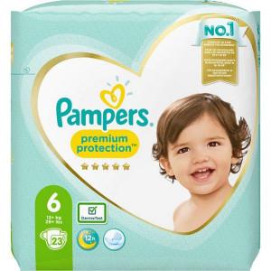 Scutece Pampers Premium, marimea 6, 13+ Kg, 23 bucati, PM2264839-63