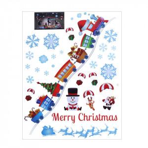 Sticker de pentru geam - elemente de iarna si Craciun, 50x64 cm