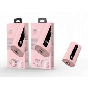 Acumulator extern 4000Mah 1A 1Usb, roz, PMTF360163