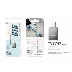 Adaptor USB Typc C Otg, Gri, PMTF580123
