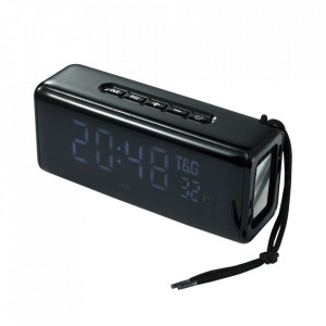 Boxa Portabila TG-174 cu Afisaj Digital,Ceas, Termometru, Radio, MP3, Bluetooth, USB, TF-Card BLACK