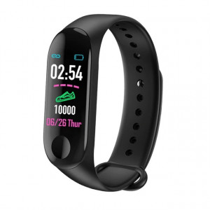 Bratara Smart Fitness Tracker M3X-NEGRU