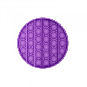Jucarie Senzoriala Interactiva, Pop It, Bubble, Rotund, Mov, POP-IT PURPLE