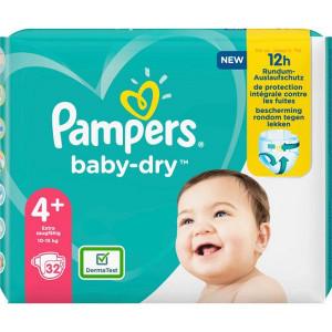 Scutece Pampers Baby-Dry, marimea 4+, 10-15 Kg, 32 bucati, PM2264792-43