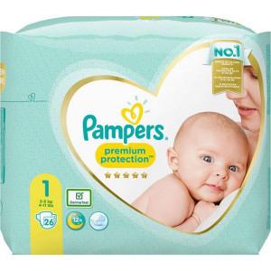 Scutece Pampers Premium, marimea 1, 2-5 Kg, 26 bucati, PM2264827-33