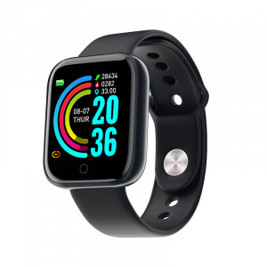 Smartwatch Y68, Fitness Tracker, Bluetooth, Negru