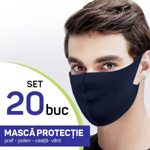Set 20 buc Masca protectie pentru fata Fashion, culoare bluemarin