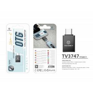 Adaptor USB Typc C Otg, Negru, PMTF580113