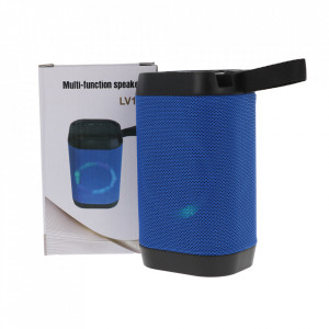 Boxa Portabila Bluetooth, Lanterna, TF, USB, LED LV10-BLUE