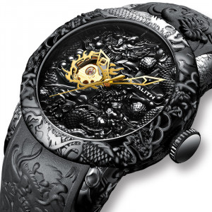 Ceas Barbatesc Automatic Skeleton MEG001
