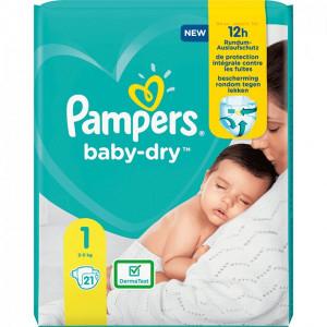 Scutece Pampers Baby-Dry, marimea 1, 2-5 Kg, 21 bucati, PM18363