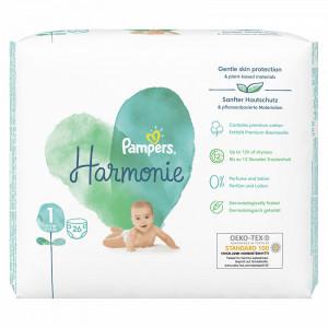 Scutece Pampers Harmonie, marimea 1, 2-5 Kg, 26 bucati, PM79230243